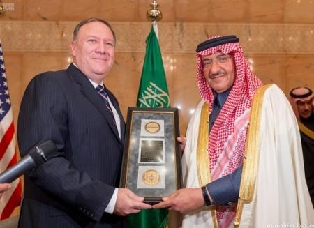Saudi crown prince receives CIA honor for anti-terror efforts
