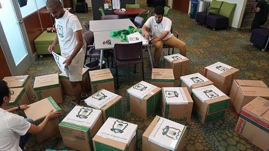 دور ريادي للنادي السعودي في تامبا لمساعدة متضرري اعصار ايرما