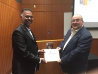 شهادة تميز في المؤتمر الدولي للأقسام العلمية لمرشح الدكتوراه وائل زين فاخرجي